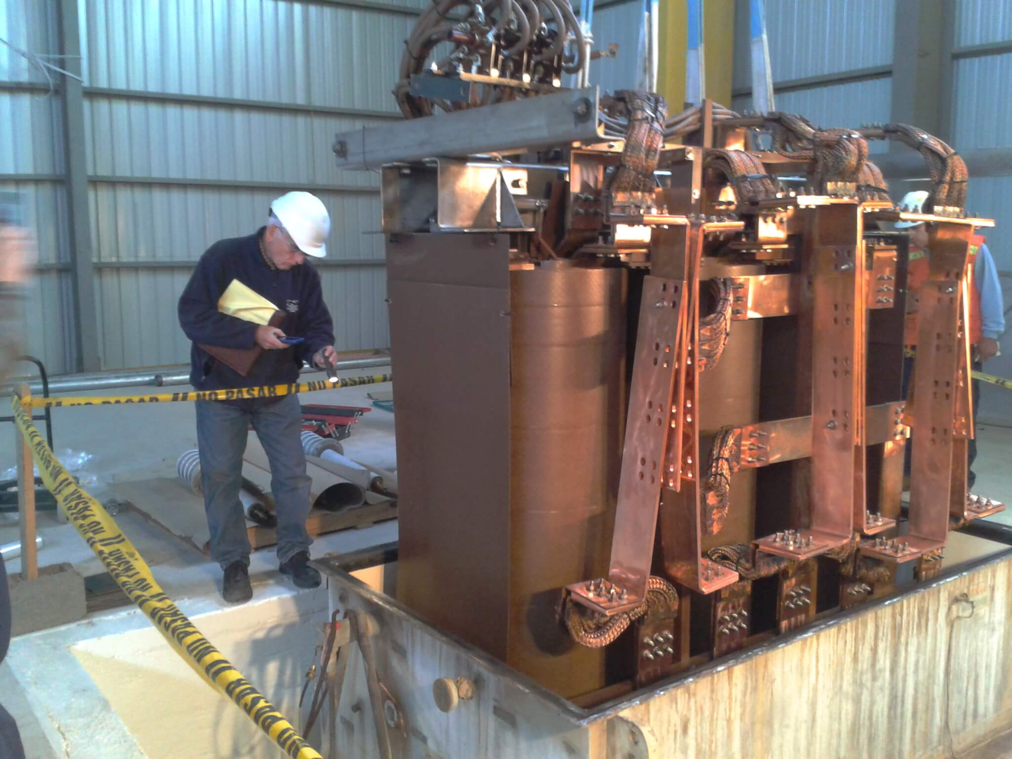 Reparation and maintenance of rectifier transformers
